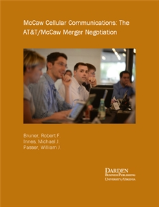 t mccaw merger negotiation Case solution for american telephone & telegraph (at&t): the at&t/mccaw merger negotiation by robert f bruner, michael j innes, william j passer.